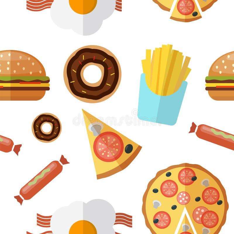 Configuration sans joint de nourriture industrielle Illustration de vecteur illustration libre de droits