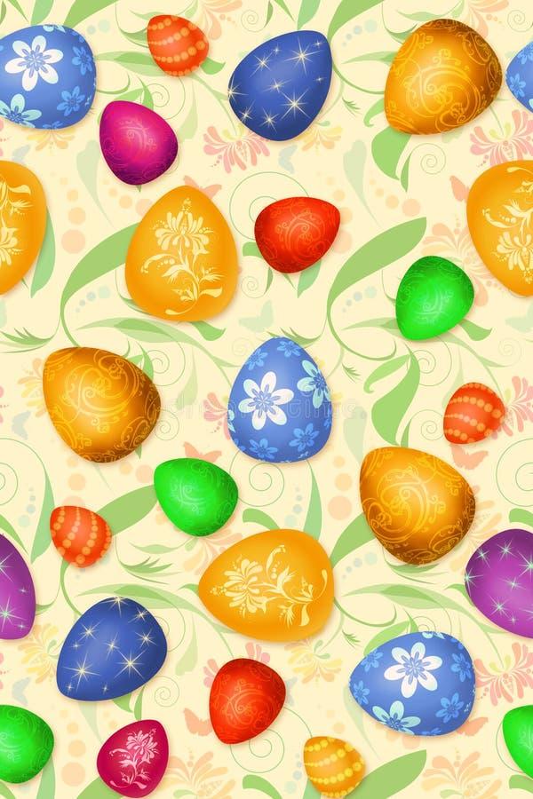Configuration sans joint de Pâques-oeufs illustration libre de droits