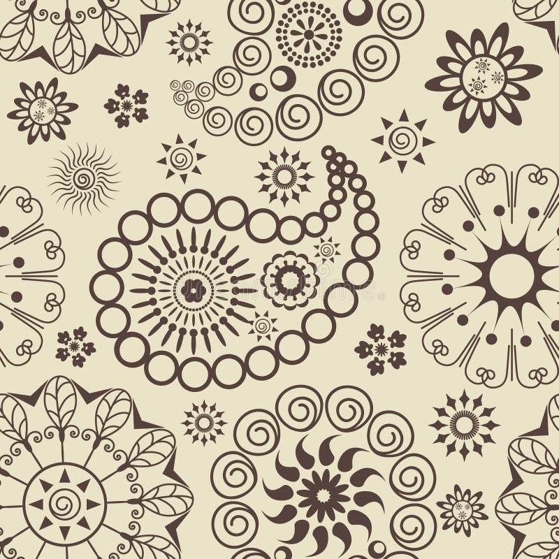 Configuration sans joint de Paisley illustration de vecteur