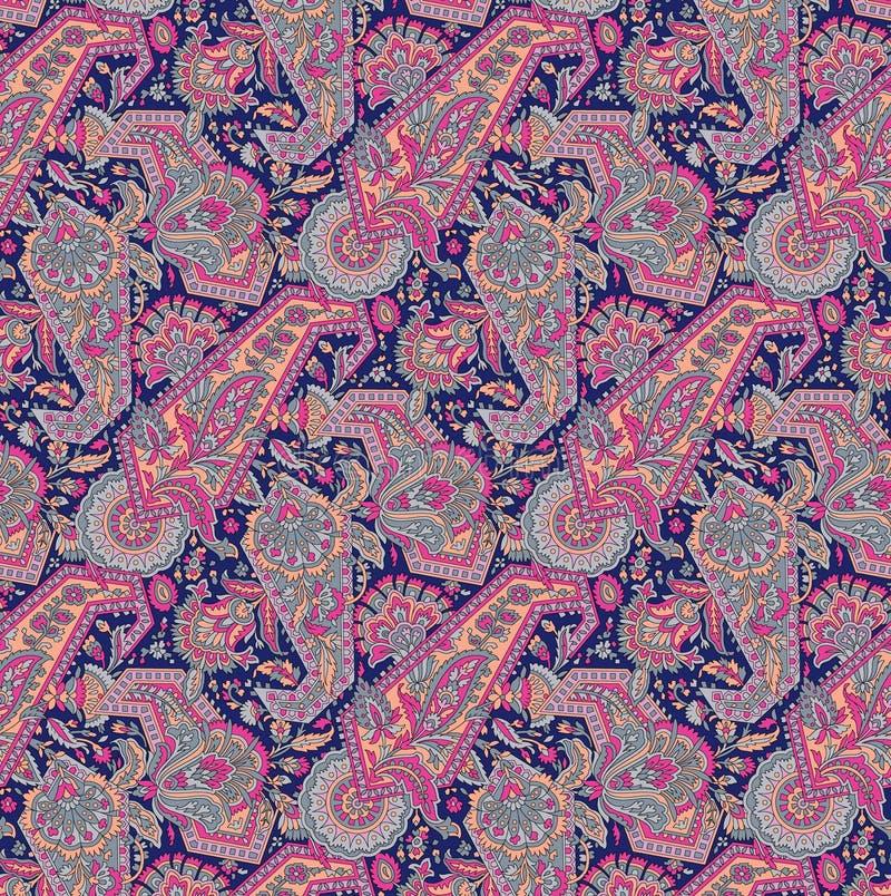 Configuration sans joint de Paisley illustration stock