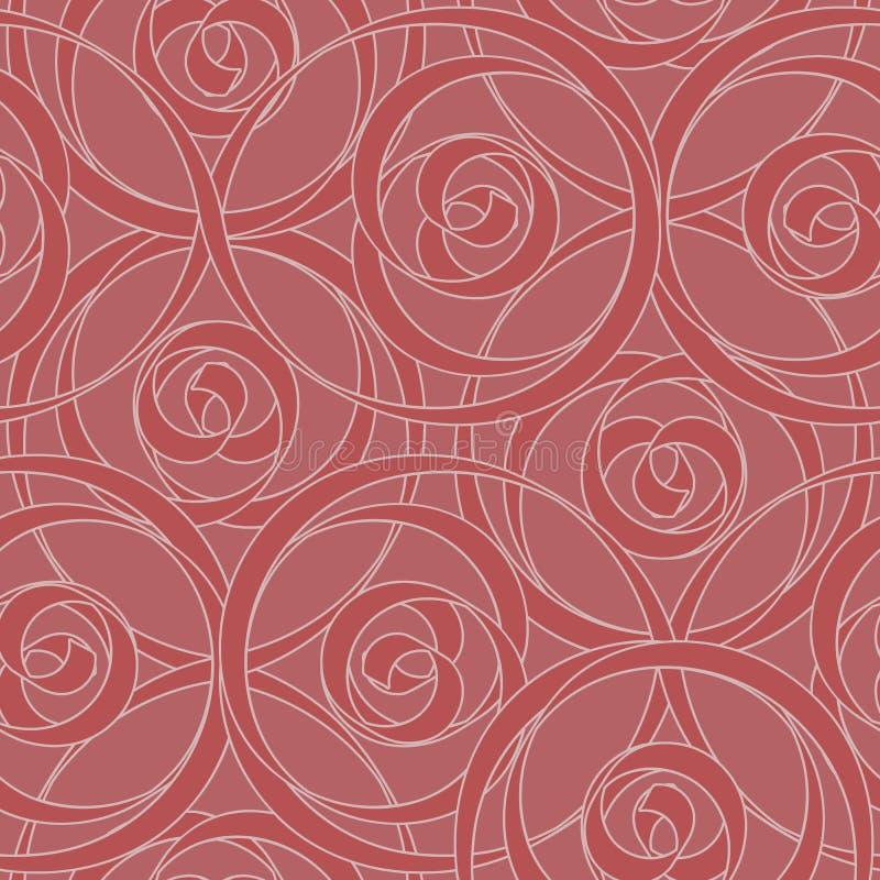 Configuration sans joint de papier peint de Swirly illustration de vecteur