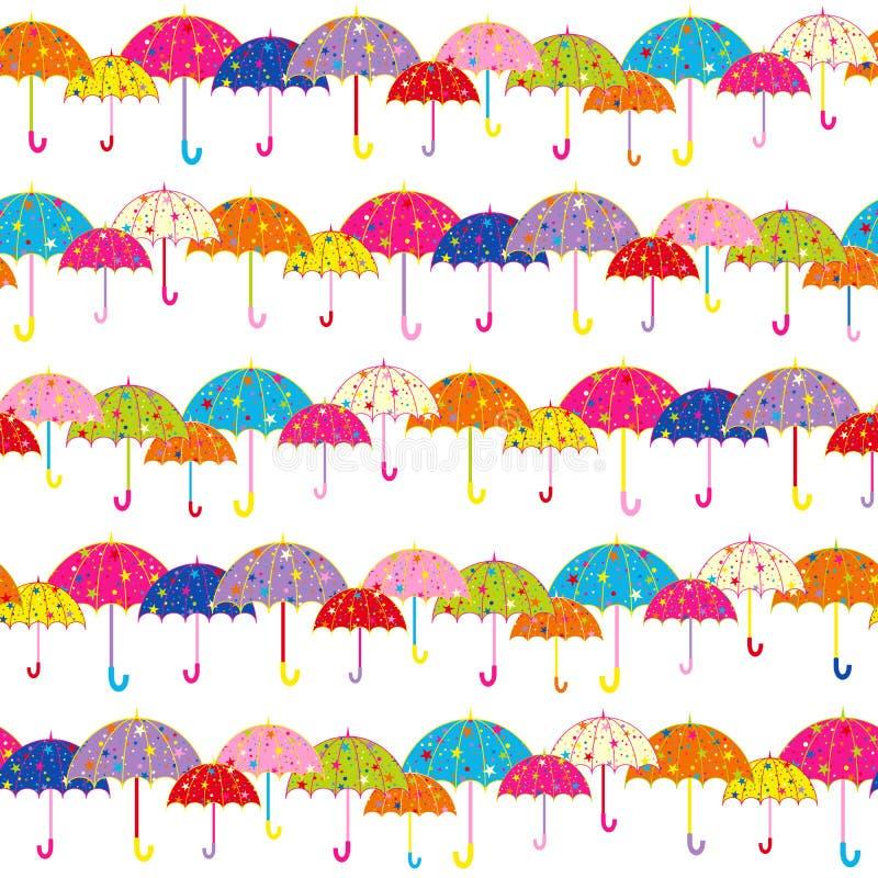 Configuration sans joint de parapluie coloré illustration de vecteur