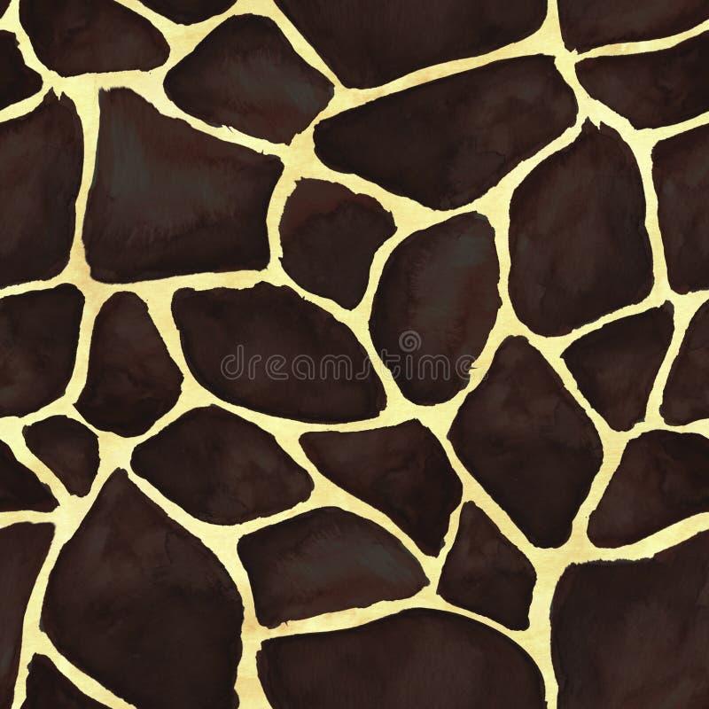 Configuration sans joint de peau de giraffe illustration de vecteur