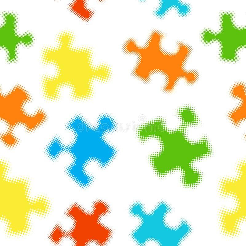 Configuration sans joint de puzzle illustration stock