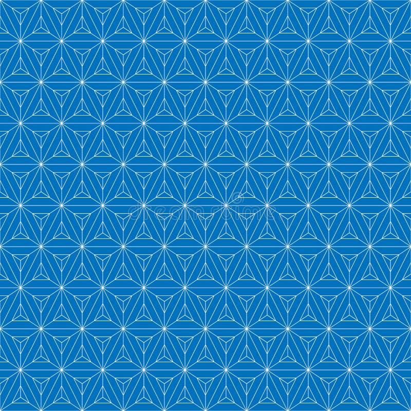 Configuration sans joint de réseau Cube géométrique, effet d'étoile Conception graphique de mode Illustration de vecteur Concepti illustration stock