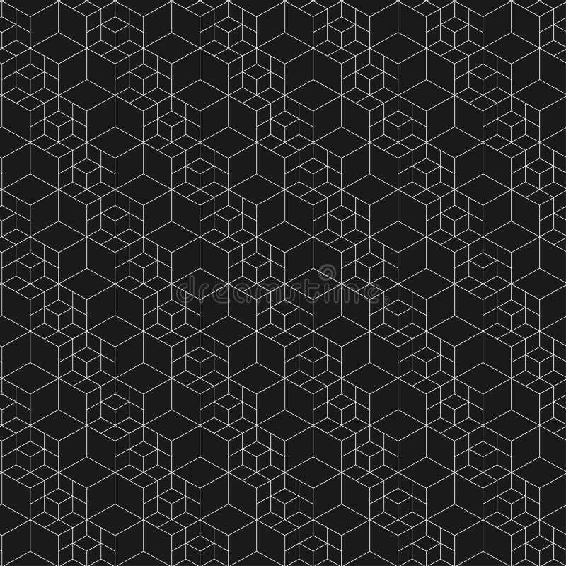 Configuration sans joint de réseau Illustration de vecteur Texture hexagonale de cellules Fond de grille Dessin géométrique Textu illustration stock