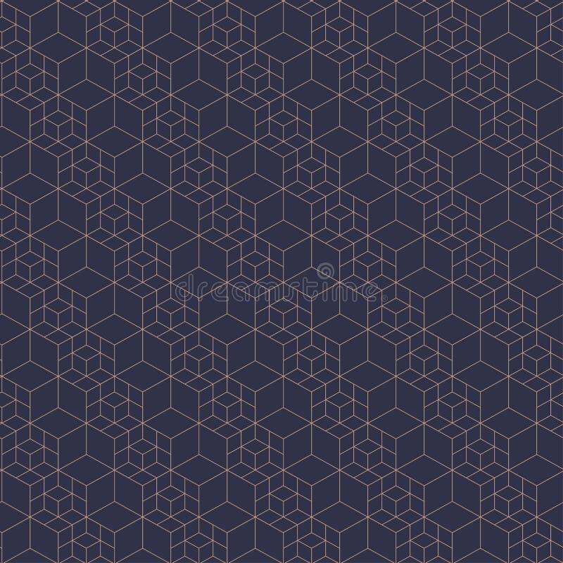 Configuration sans joint de réseau Illustration de vecteur Texture hexagonale de cellules Fond de grille Dessin géométrique Textu illustration de vecteur