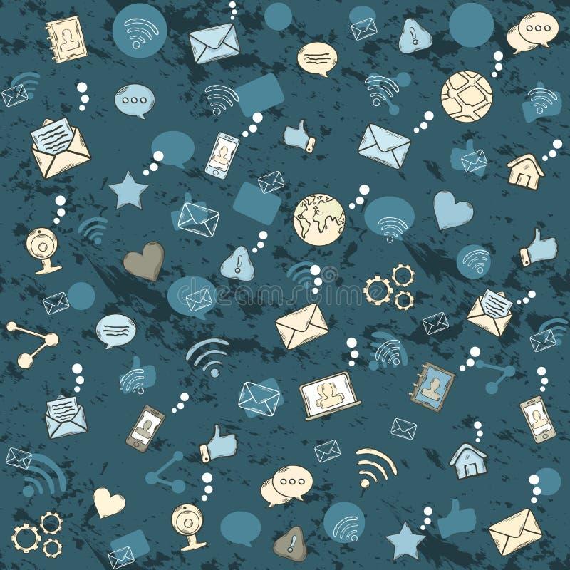 Configuration sans joint de réseau social illustration stock