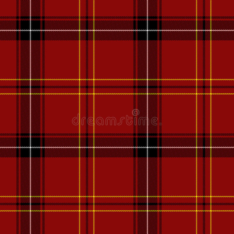 Configuration sans joint de Tartan rouge illustration libre de droits