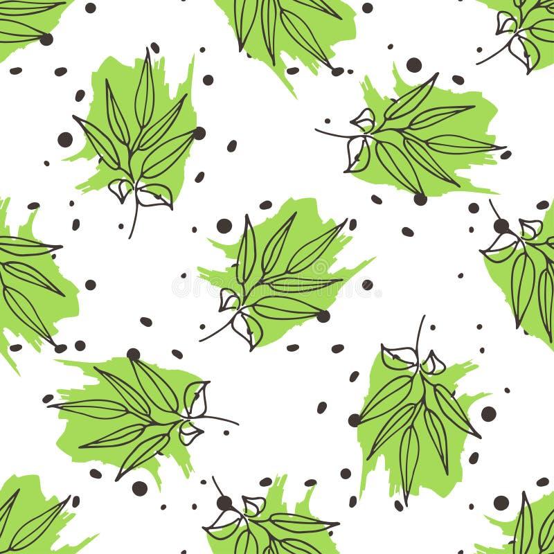 Configuration sans joint de thé vert illustration libre de droits