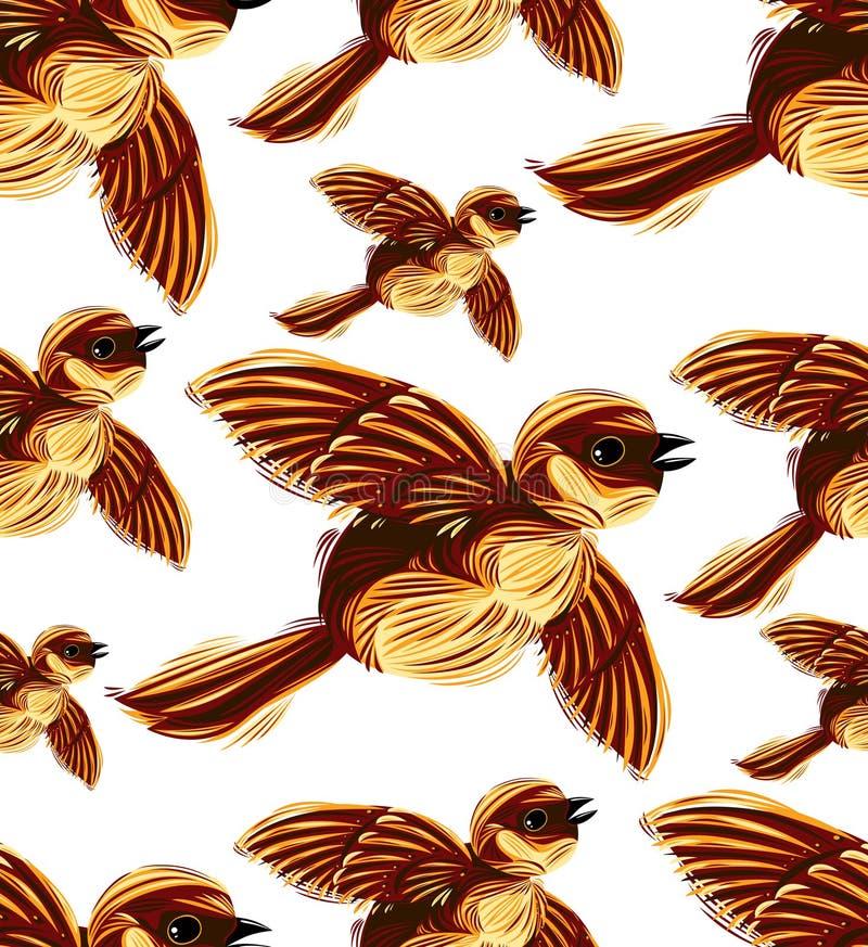 Configuration sans joint de transfert d'oiseaux. illustration stock
