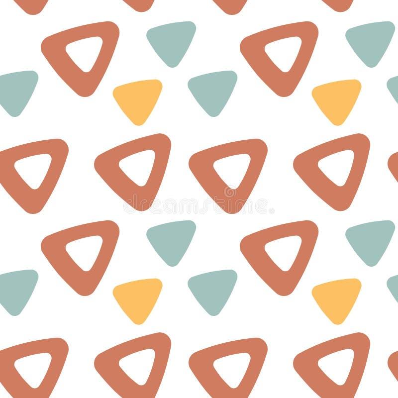 Configuration sans joint de triangle Fond de vecteur Texture abstraite géométrique illustration stock