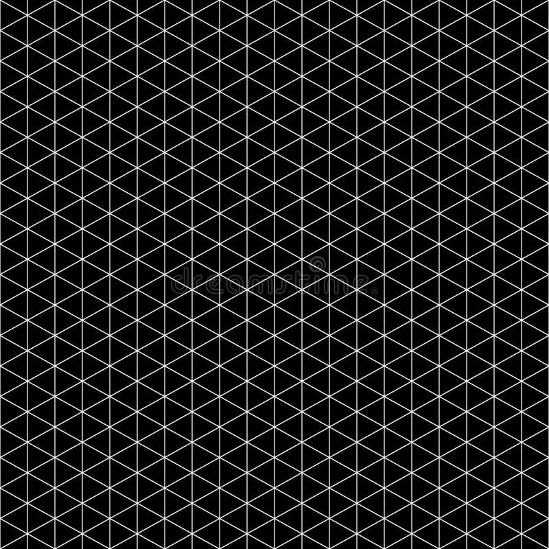 Configuration sans joint de triangle Vecteur géométrique noir et blanc de texture illustration libre de droits