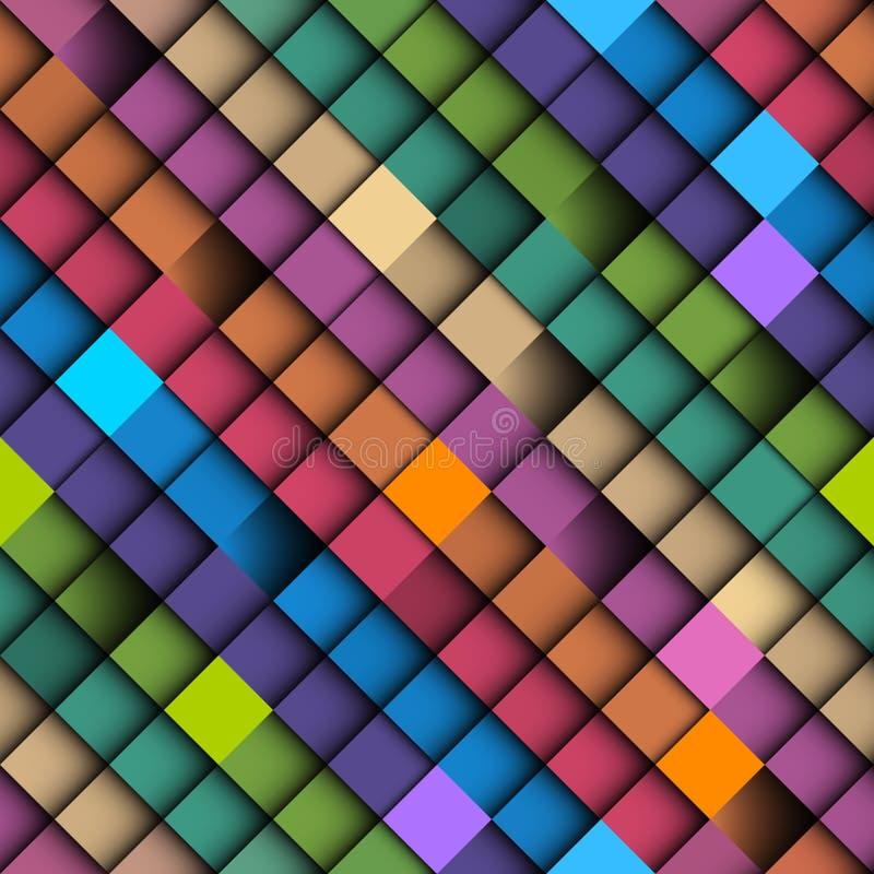Configuration sans joint de vecteur abstrait géométrique Style polygonal illustration de vecteur