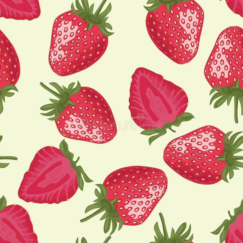 Configuration sans joint de vecteur avec des fraises illustration de vecteur