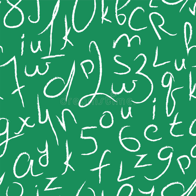 Configuration sans joint de vecteur avec des numéros et des lettres illustration libre de droits