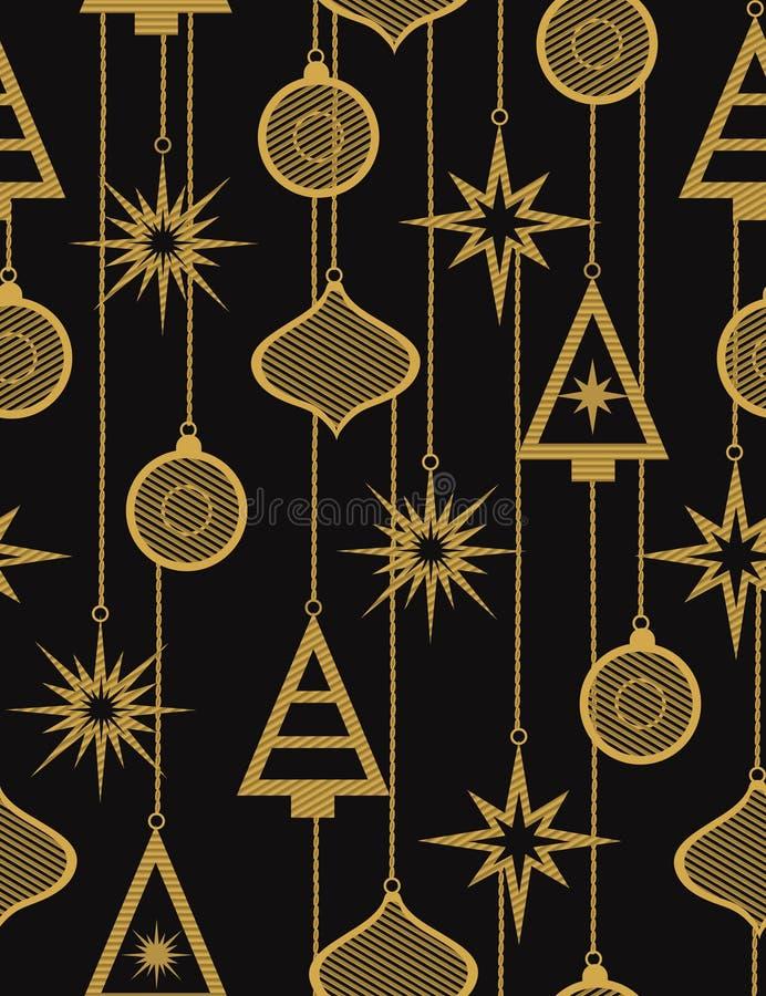 Configuration sans joint de vecteur de Noël illustration libre de droits
