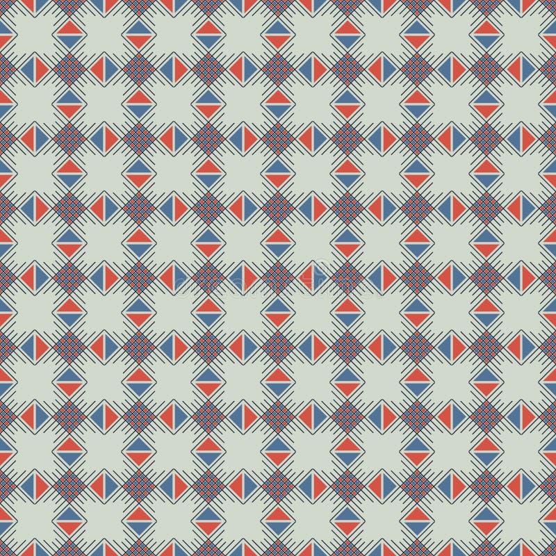 Configuration sans joint de vecteur Fond abstrait géométrique symétrique avec des places, des rectangles et des lignes dans des c illustration libre de droits