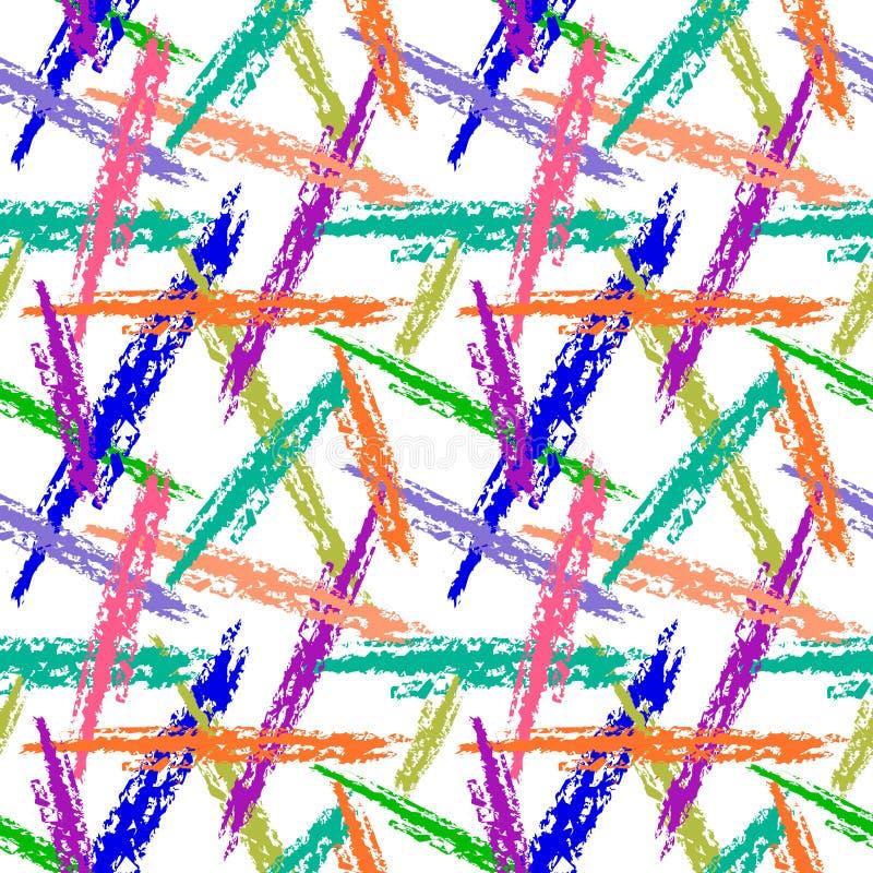 Configuration sans joint de vecteur Fond coloré avec des traçages sur le contexte blanc illustration libre de droits
