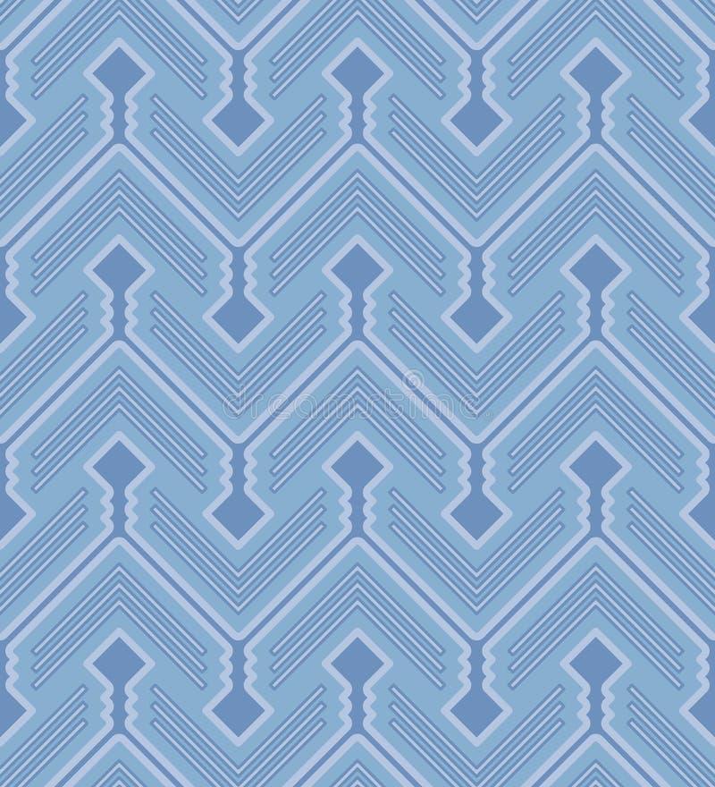 Configuration sans joint de zigzag illustration libre de droits