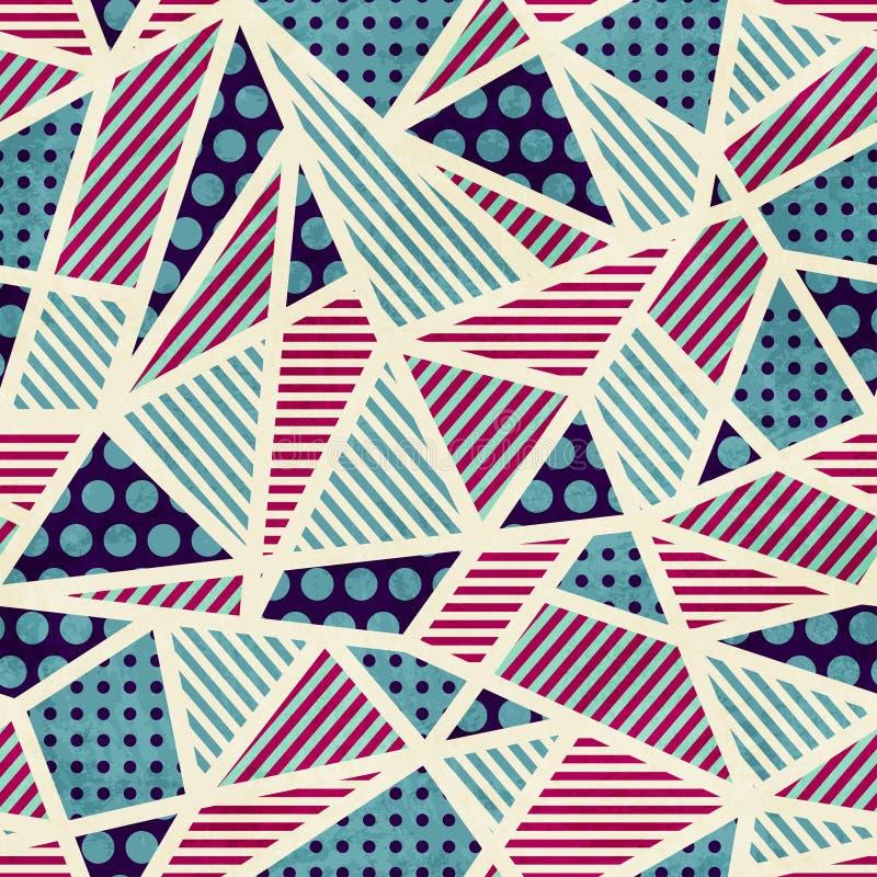Configuration sans joint de zigzag avec l'effet grunge illustration de vecteur