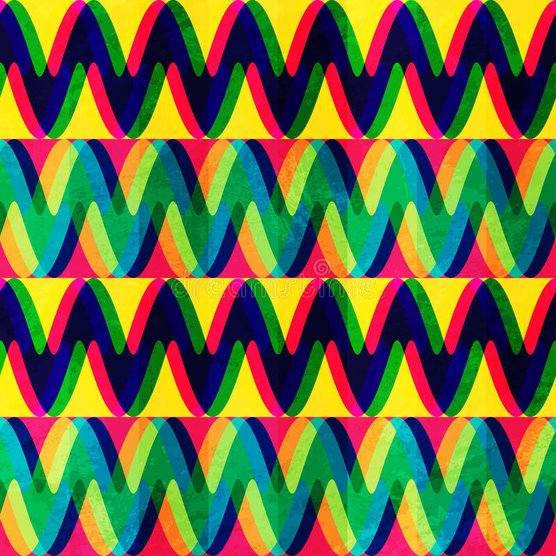 Configuration sans joint de zigzag avec l'effet grunge illustration stock
