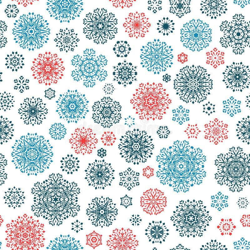 Configuration sans joint des flocons de neige Vecteur d'ENV 10 illustration stock