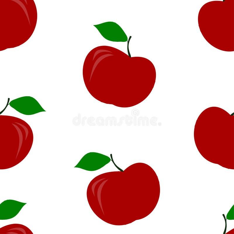 Configuration sans joint des pommes rouges illustration libre de droits