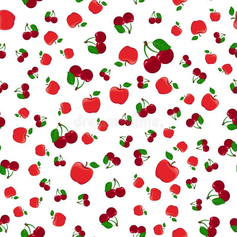 Configuration sans joint des pommes rouges illustration stock