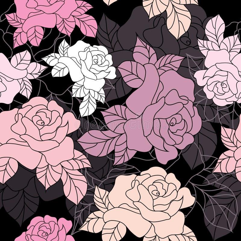Configuration sans joint des roses illustration libre de droits
