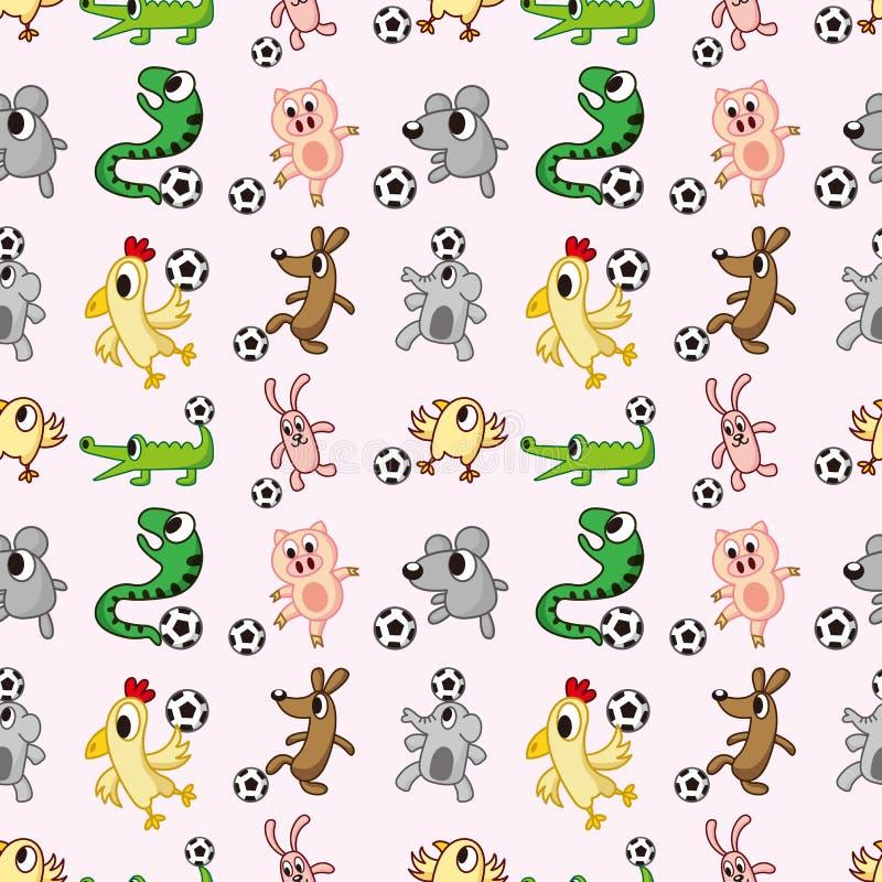 Configuration sans joint du football animal illustration libre de droits