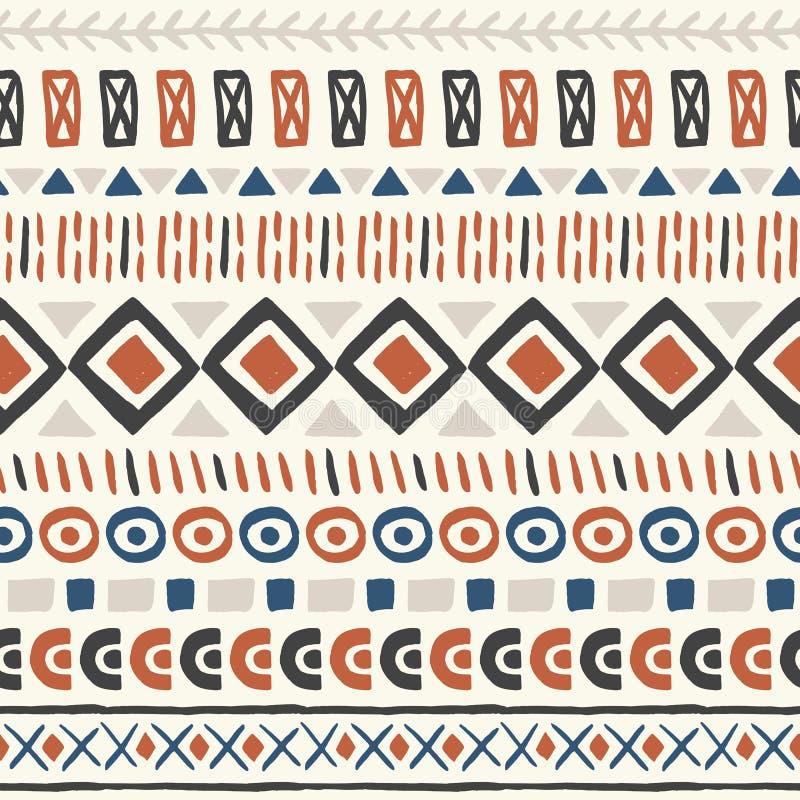 Configuration sans joint ethnique illustration stock