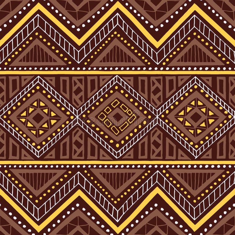 Configuration sans joint ethnique Motifs tribals Peinture géométrique d'ornement illustration de vecteur