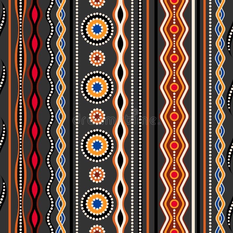 Configuration sans joint ethnique Ornement géométrique traditionnel australien illustration de vecteur