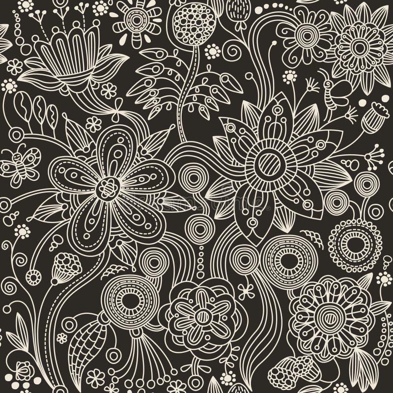 Configuration sans joint - fleurs abstraites illustration de vecteur