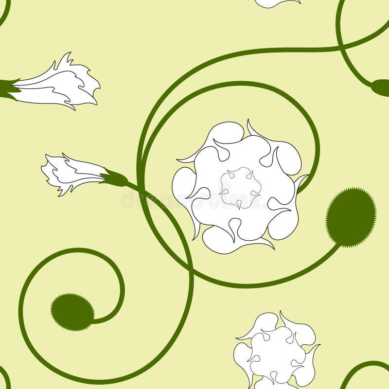 Configuration sans joint florale illustration stock