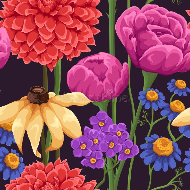 Configuration sans joint florale illustration de vecteur