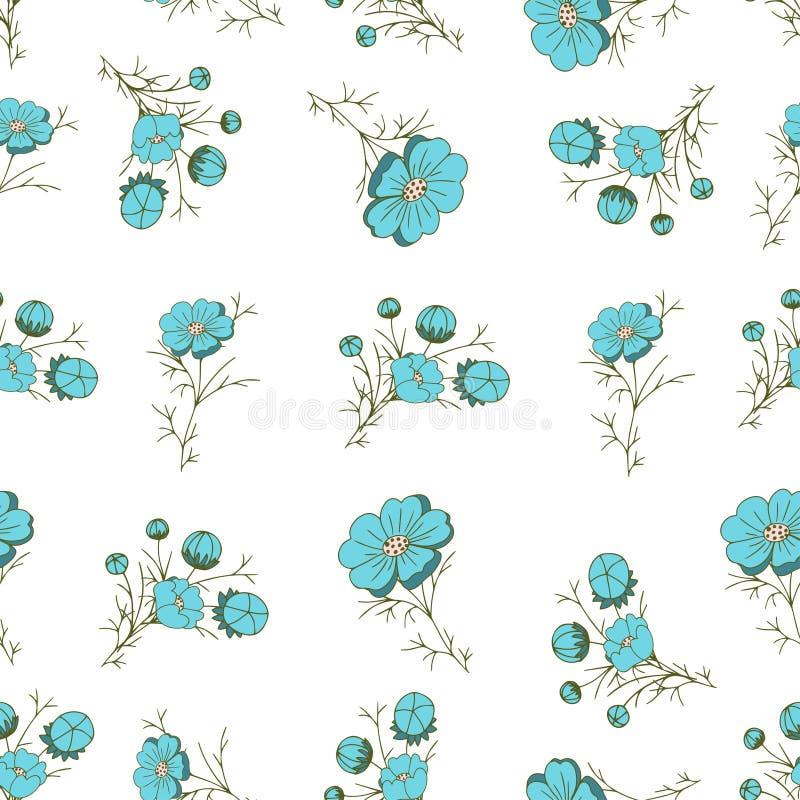 Configuration sans joint florale Arrangement floral dans le style de cru illustration stock