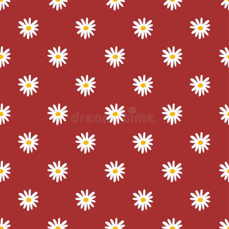 Configuration sans joint florale Camomille vecteur de fleurs copie de mode Conception pour le textile ou les vêtements Éléments d illustration stock