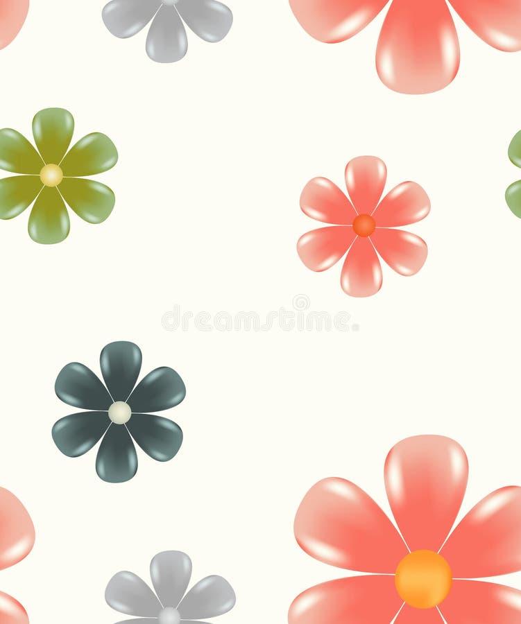 Configuration sans joint florale de carrelage illustration de vecteur