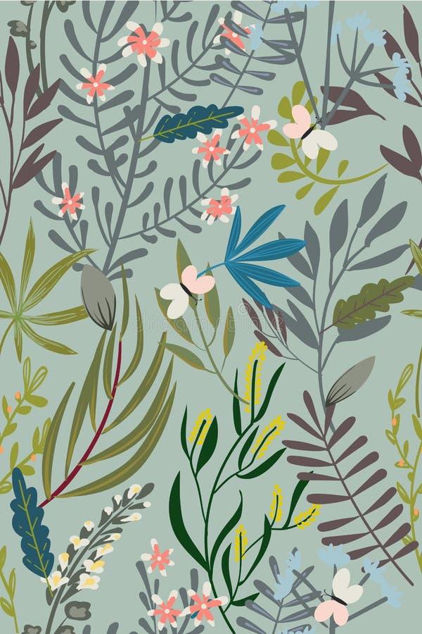 Configuration sans joint florale de cru illustration stock