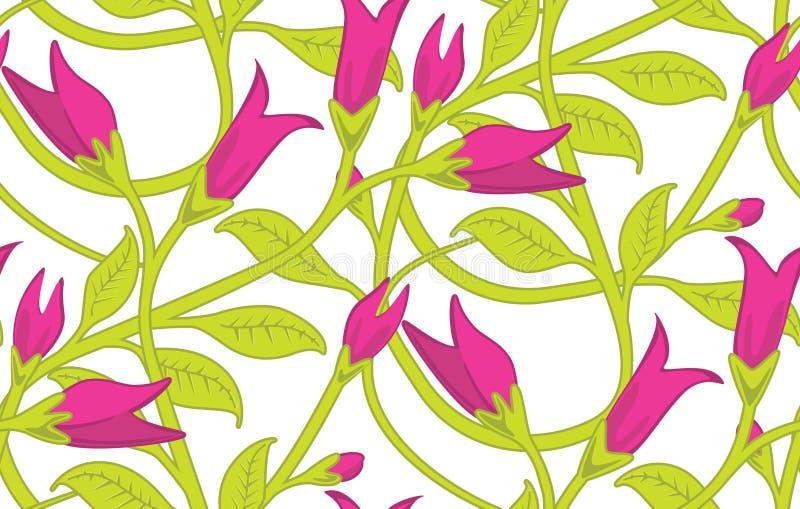 Configuration sans joint florale de papier peint illustration de vecteur