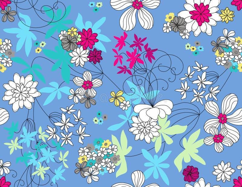 Configuration sans joint florale de vecteur illustration libre de droits