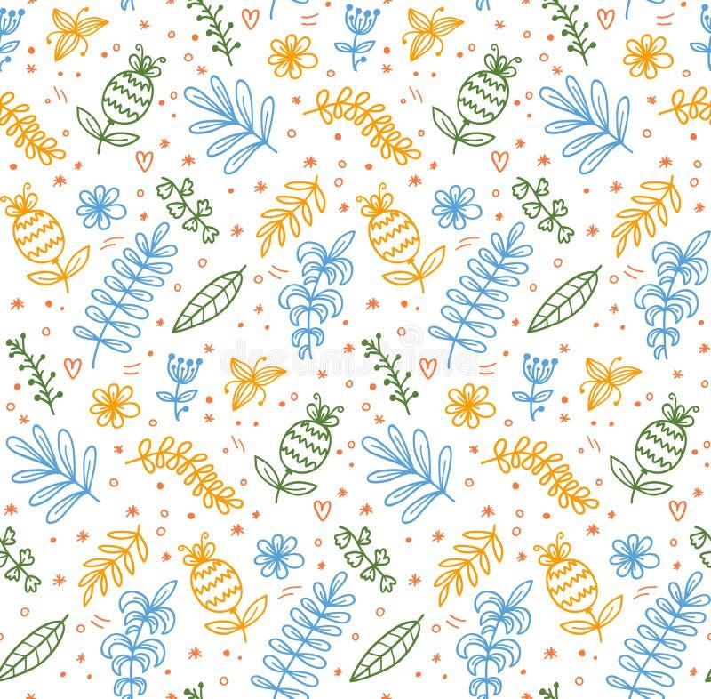 Configuration sans joint florale de vecteur illustration stock