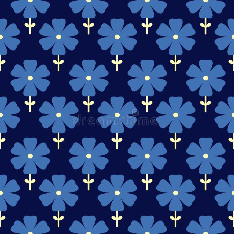 Configuration sans joint florale Drapeau des fleurs Background illustration stock