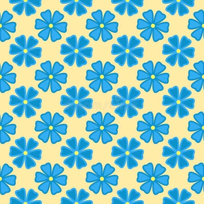 Configuration sans joint florale Drapeau des fleurs Background illustration de vecteur