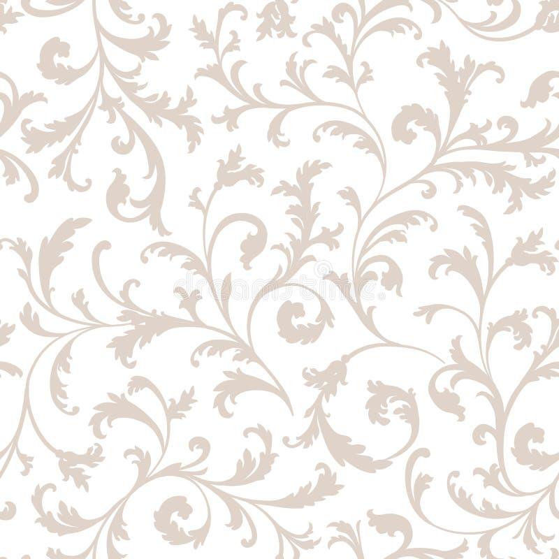 Configuration sans joint florale Embranchez-vous avec l'ornement de feuilles Flourish n illustration stock