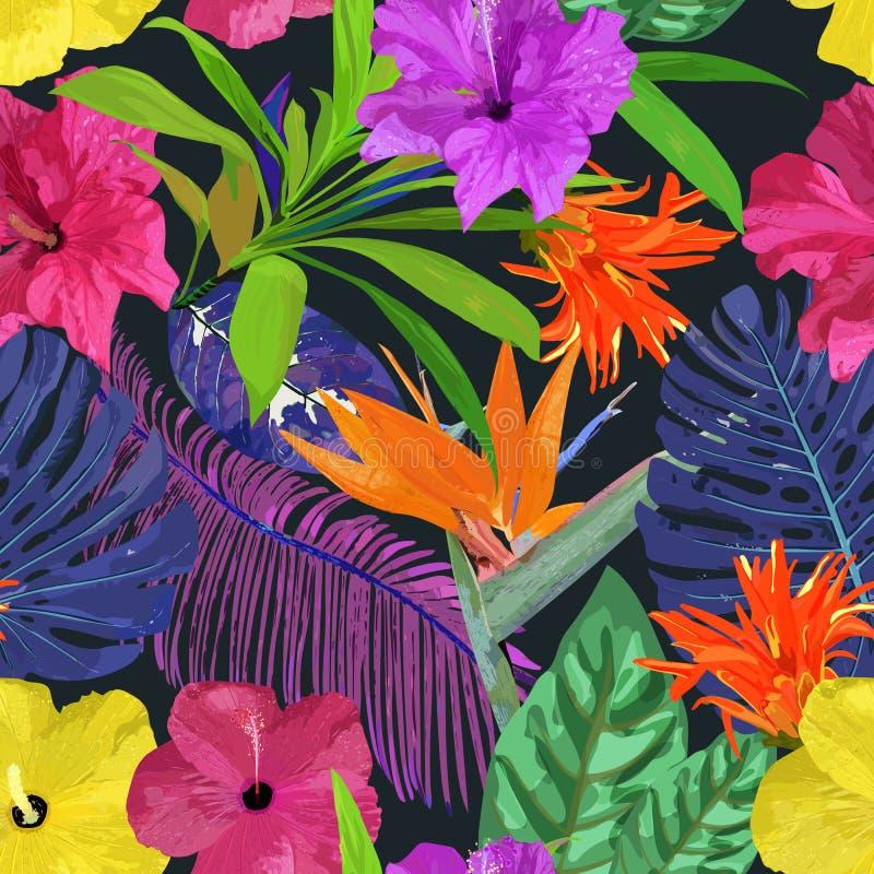 Configuration sans joint florale Fond avec la main colorée d'isolement illustration libre de droits
