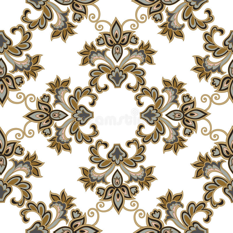 Configuration sans joint florale Fond de fleur Ornement floral de tuile illustration libre de droits