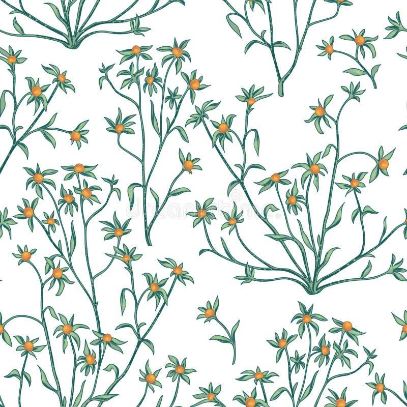 Configuration sans joint florale Fond de fleur Papier peint W de Flourish illustration libre de droits